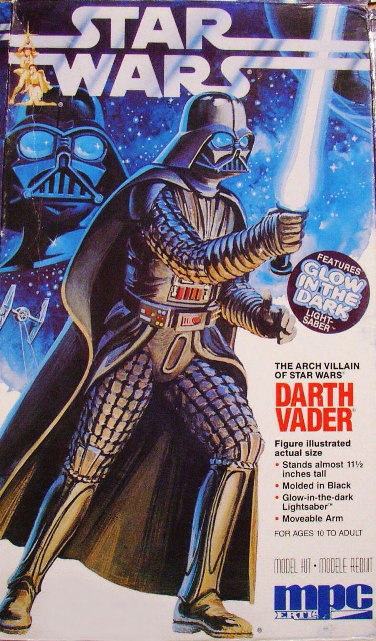 Darth Vader model kit glow in dark saber