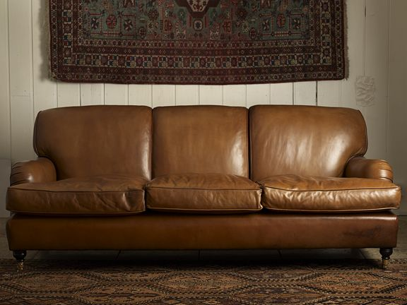 Handmade Leather Sofa Beautiful Made To Order In Various Colours Very