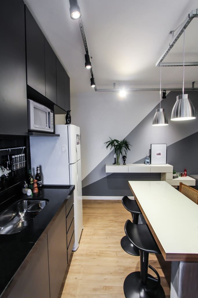 Apartamento alto do ipiranga cozinhas modernas por sp for Pittura soggiorno moderno