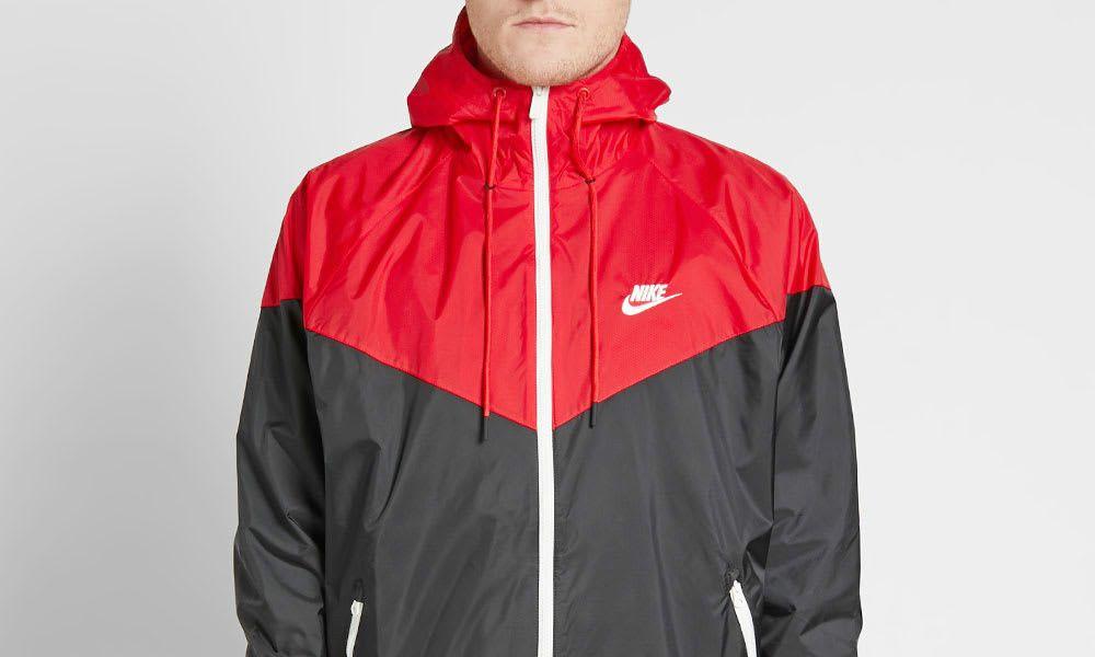 6ddb291f7 Nike Windrunner Jacket - Black / Red / Sail | Vintage Inspired ...