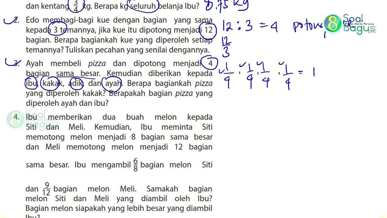 Kunci Jawaban Matematika Kelas 4 Hal 42 43 Buku Matematika Kelas 4 Edi Matematika Kelas 4 Matematika Buku