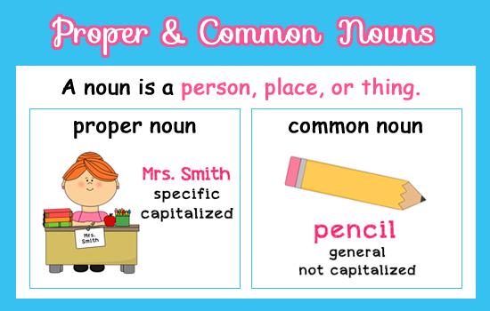 Resultado de imagen para common nouns | TAREAS ESCOLARES | Pinterest