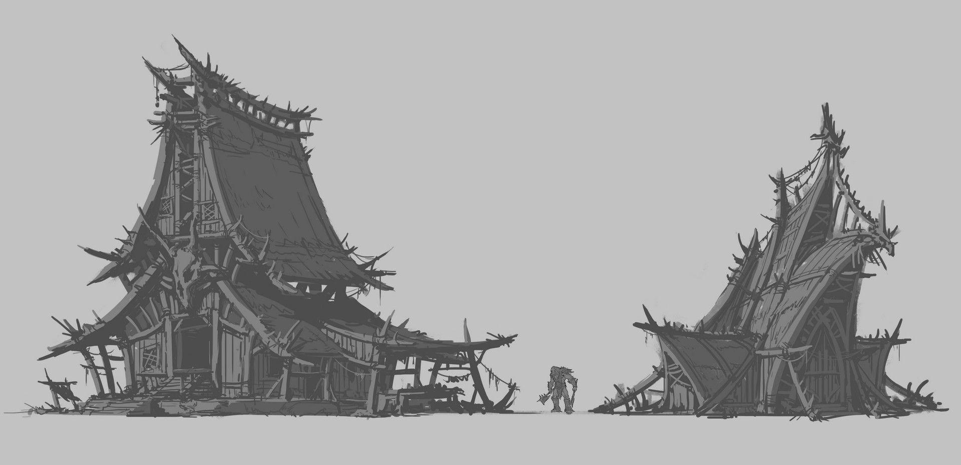 ArtStation - Some Orchish Designs (Thumbs), Earl Lan