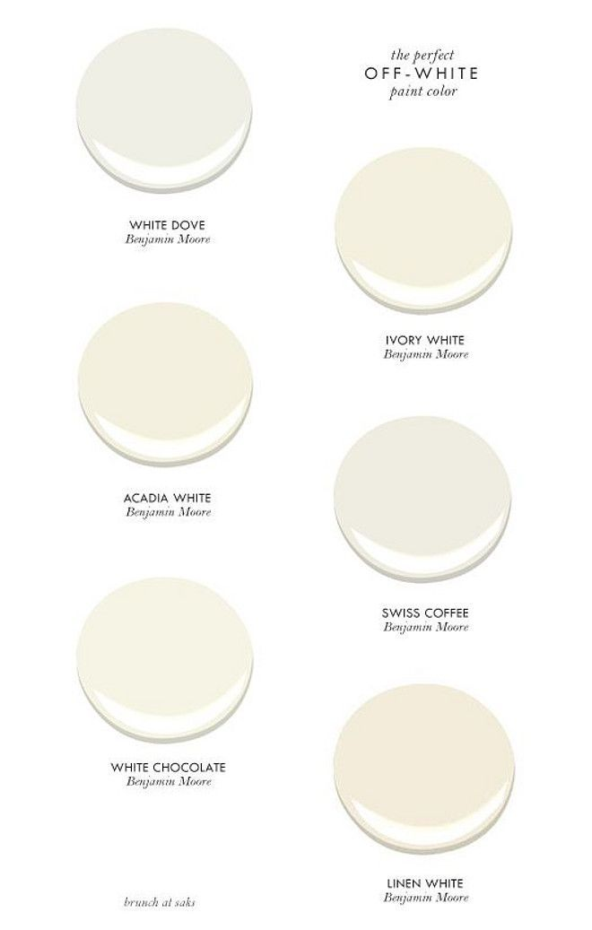 Off-white paint colors: I like Swiss Coffee (kitchen cabinets?