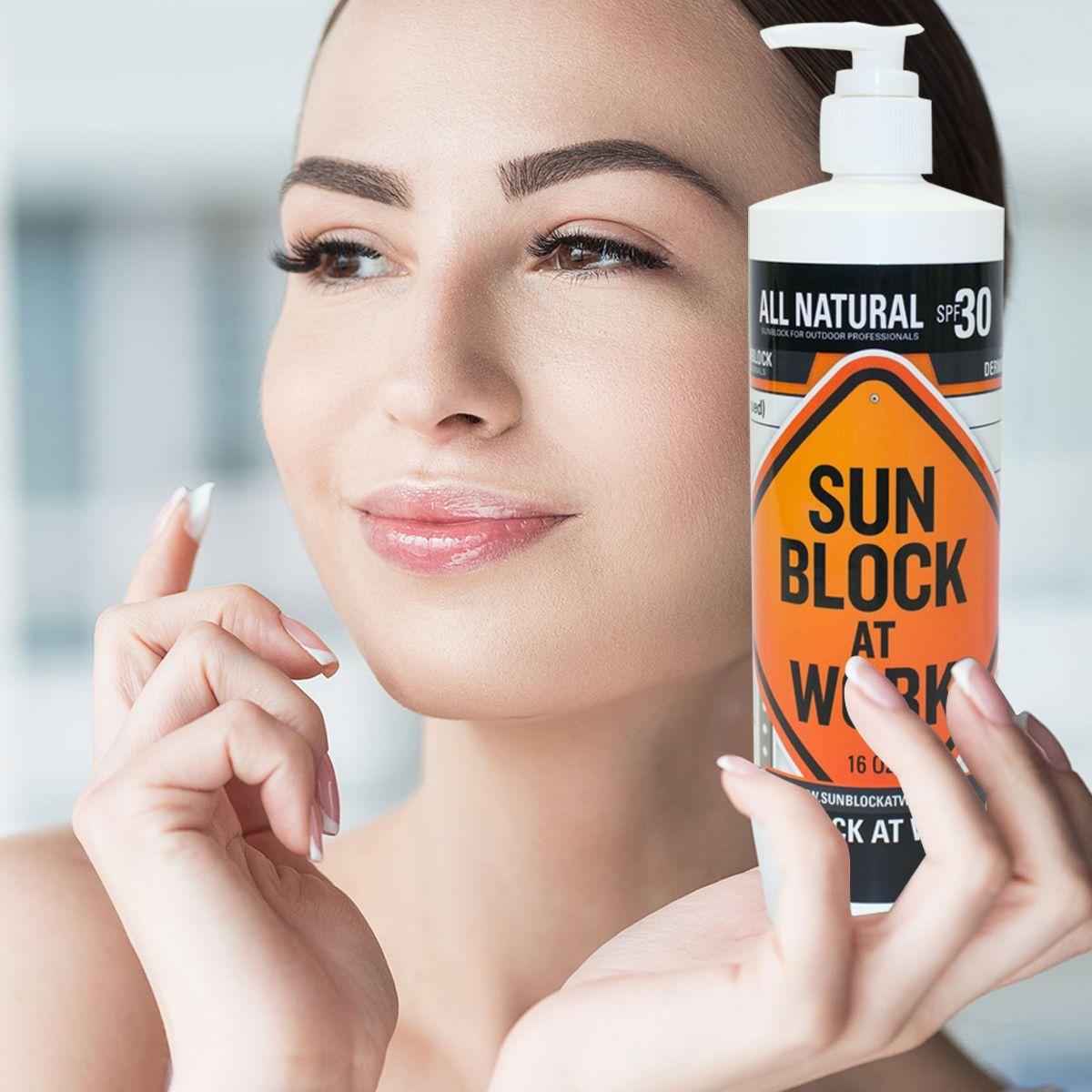 Sunblock at Work SPF 30 AllNatural Organic Zinc Oxide