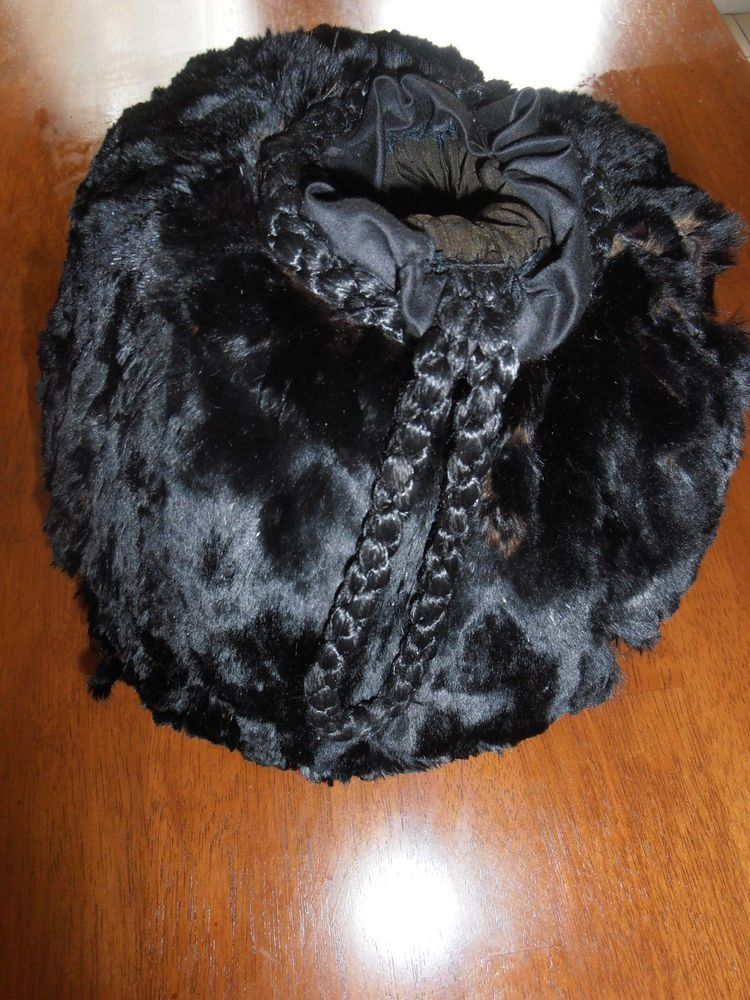 Antique Black Fur Muff Victorian Era Needs TLC Great for Reinactment Ebay nannysattic15 $8.99 sold