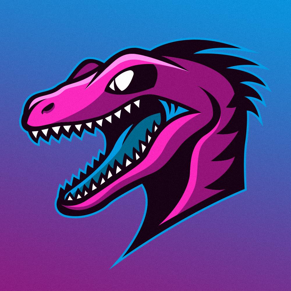 dinosaur logo on behance mascot branding and logos
