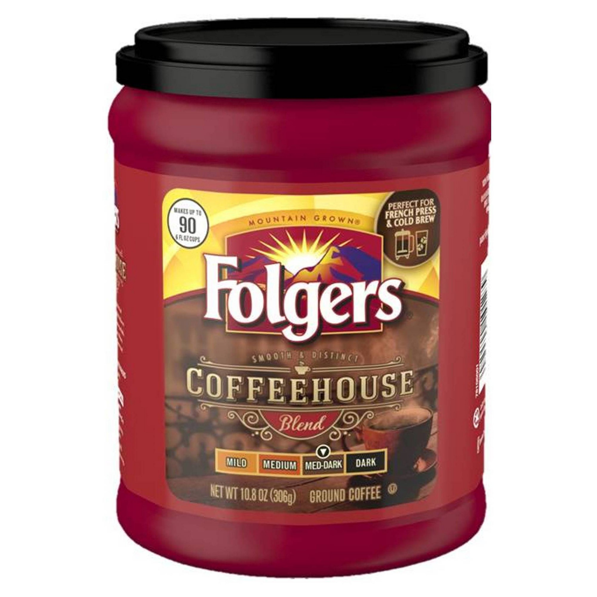 Folgers Coffee House Roast Whole Bean Coffee 12oz