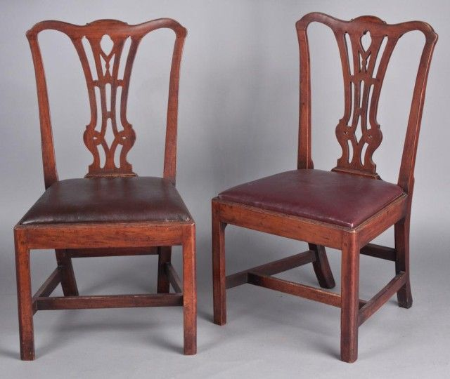 Important Pair Of Tidewater Va Chippendale Cherry Side Chairs C 1770 Surviving In Outstanding Conditio With Images Southern Furniture British Furniture Southern Design