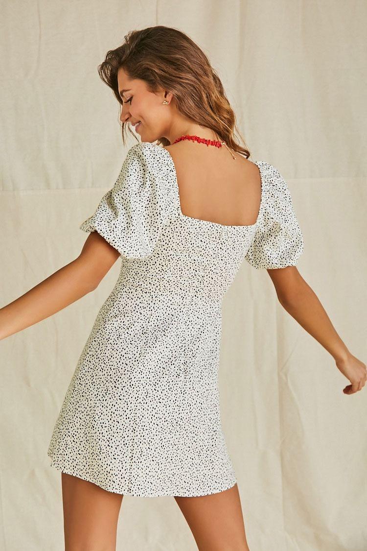 Speckled Print Mini Dress Affiliate Sponsored Print Speckled Dress Mini In 2020 Printed Mini Dress Mini Dress Dresses