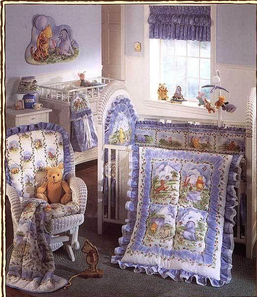 Classic Winnie The Pooh Friends 4 Pc Crib Bedding Set