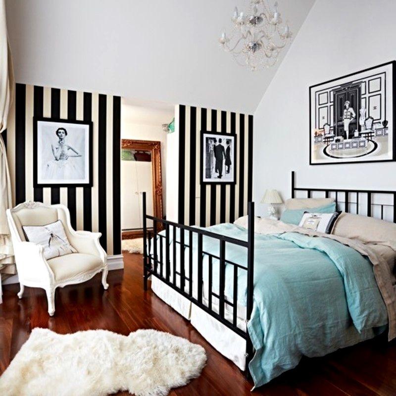 60 Pretty Black Wallpaper Bedroom In 2020 Black Wallpaper Bedroom Stripe Wallpaper Bedroom Bedroom Design