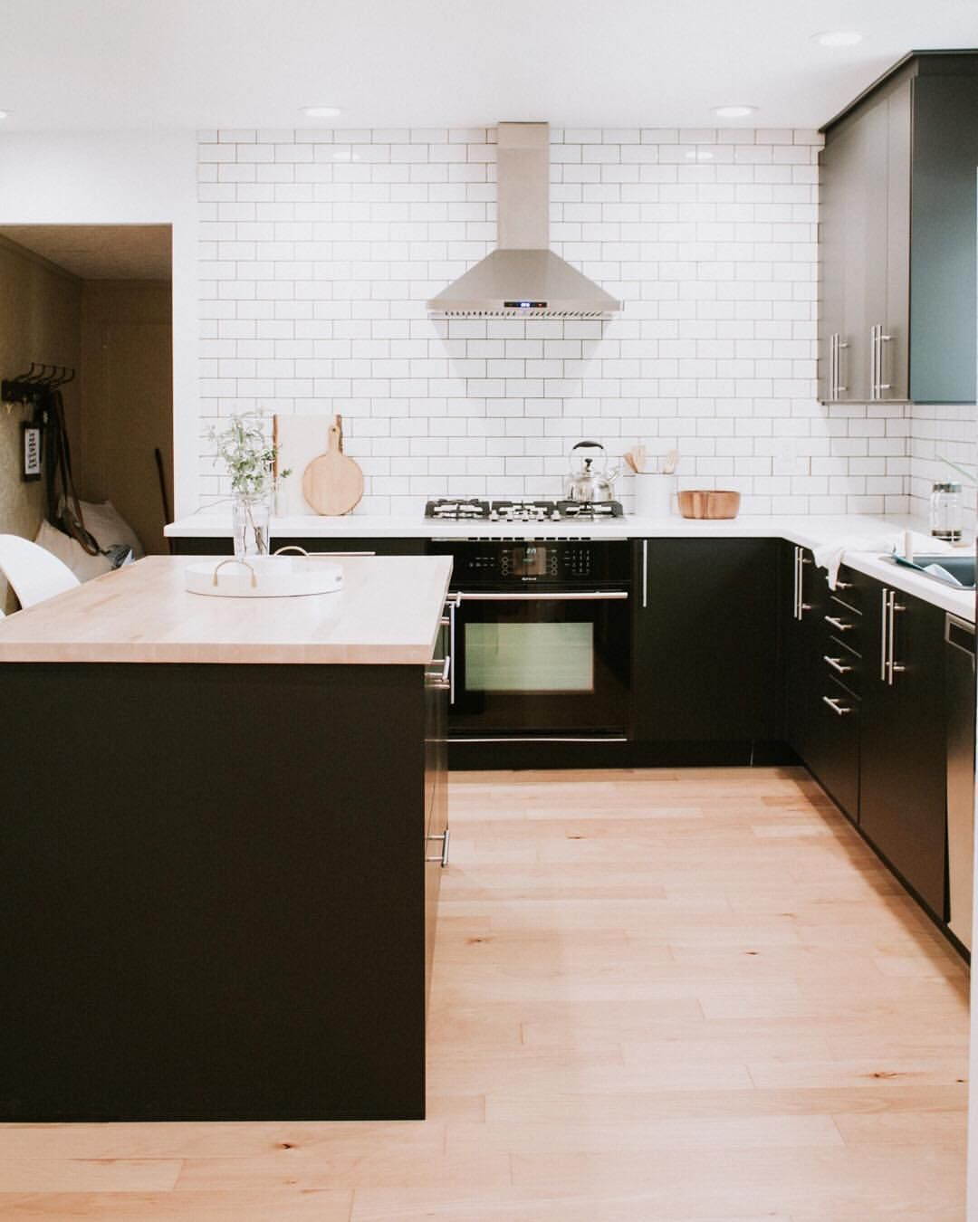 Modern Black And White Kitchen Inspiration We Love Our Ikea Kungsbacka Kitchen Cabi White Kitchen Inspiration Kitchen Inspirations Kitchen Design Modern White