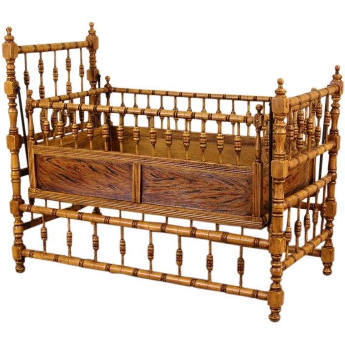 Victorian 1890 Antique Swinging Rocking Baby Cradle from harpgallery on  Ruby Lane - Victorian 1890 Antique Swinging Rocking Baby Cradle From