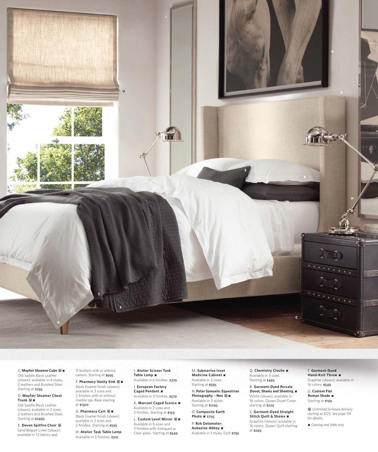 2013 Small Spaces Catalog Restoration Hardware Bedroom