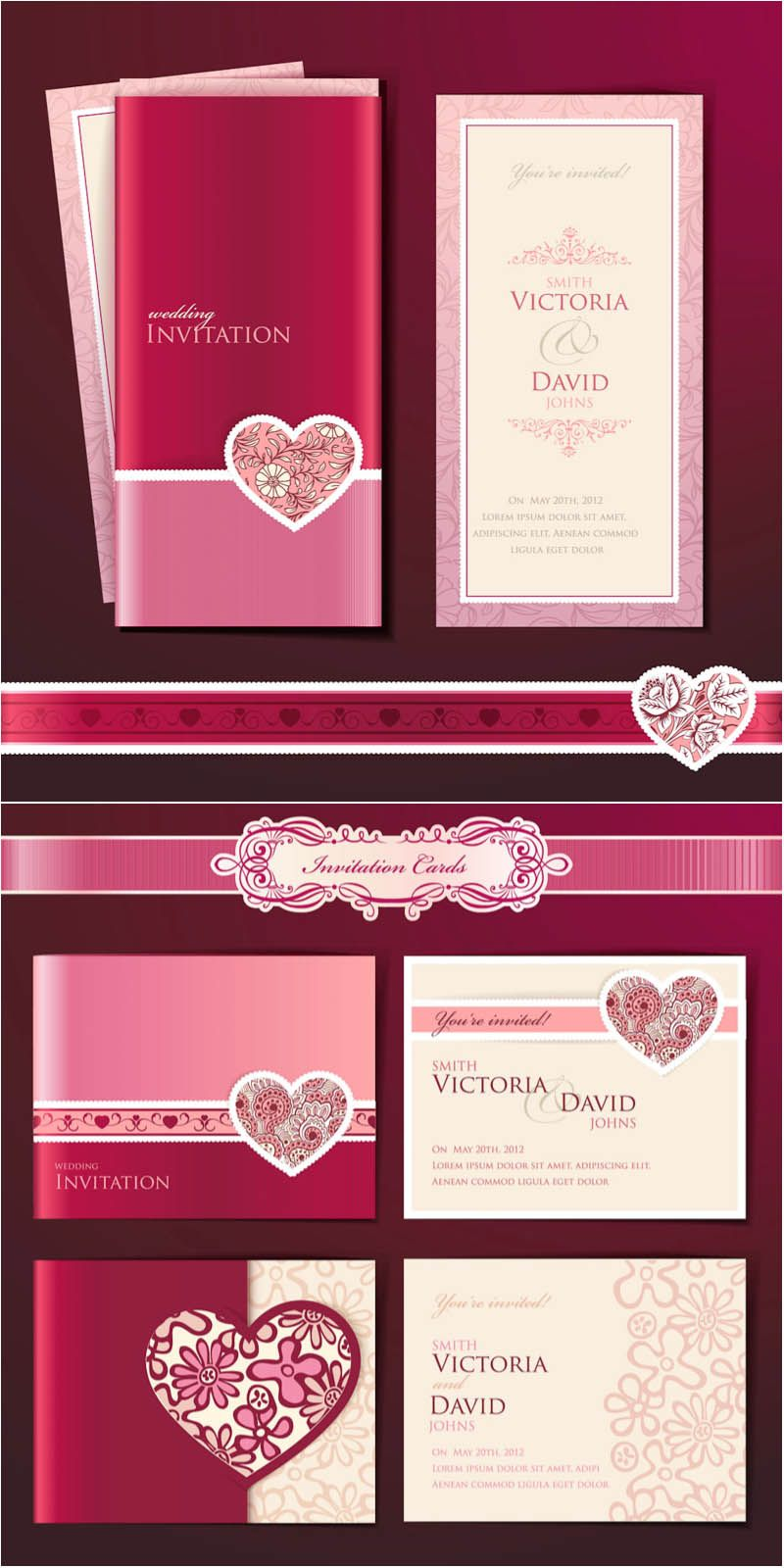 Wedding invitation cards vector. We have over 10,000