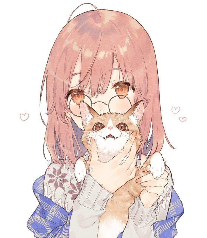 Cat And Girl Kawaii Anime Anime Anime Drawings