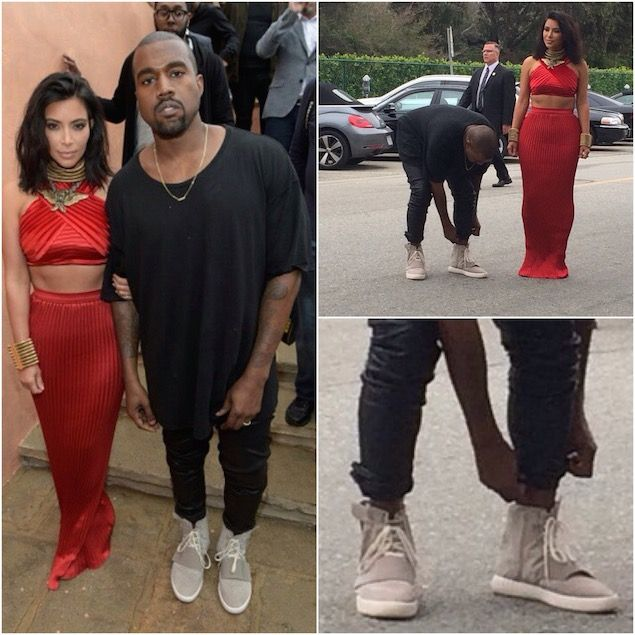 Kanye West Rocks Adidas Yeezy 750 Boost Sneakers at Roc Nation Pre-Grammy  Brunch |