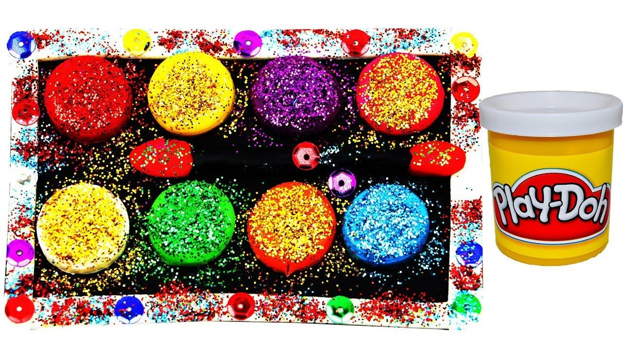 Super Simple Glitter Makeup Set with Playdoh for Kids