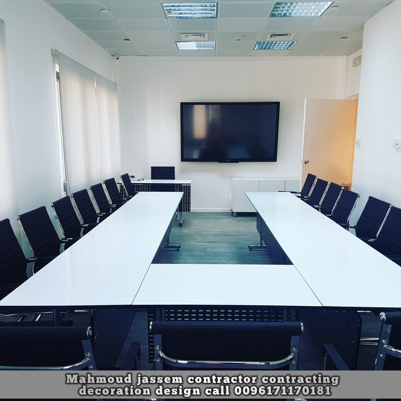 ديكور مكاتب طاولات شركات مكاتب Office Works Design Call 0096171170181 Modern Decor House Design Decor Design