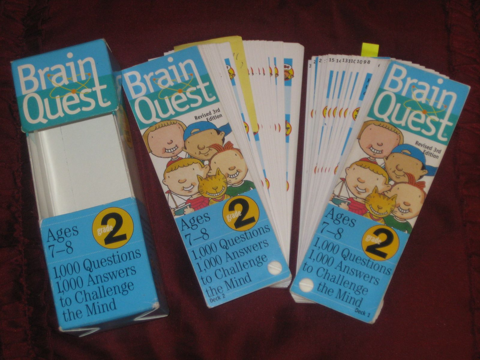 Brain Quest Ages 7 8 Learning Card Games 1000 Questions 1000