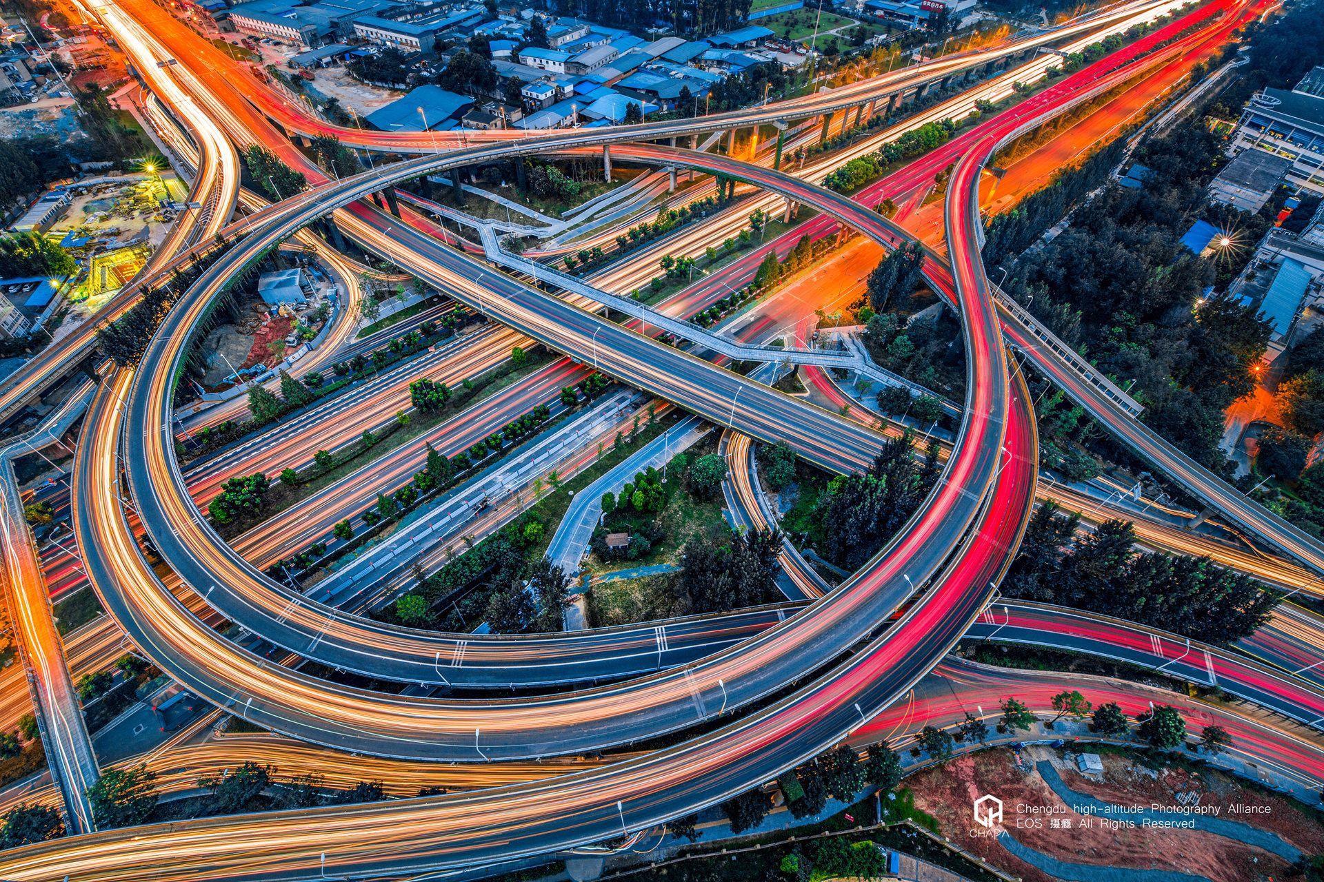 成都機器貓立交 - 圈圈圓圓圈圈,天天年年天天的我,每天都拍著片 | City photo, Aerial, Photo