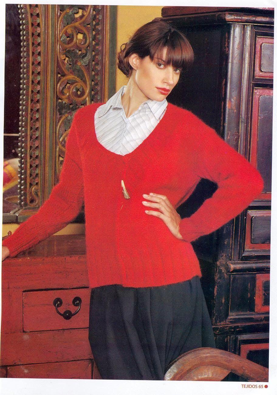 Patrones Crochet: Chaqueta Corte Asimetrico Instrucciones | Big ...