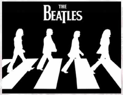 Cozy Up Beatles Abbey Road Black White Fleece Blanket