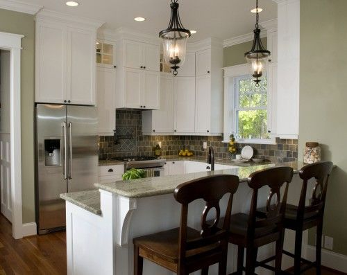 Taupe Walls And White Cabinets Kitchens Kitchen Bar