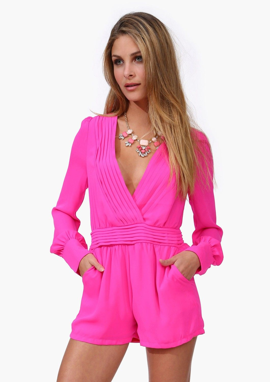 b8648a3dc30f Sultry hot pink romper. im not a fan of rompers