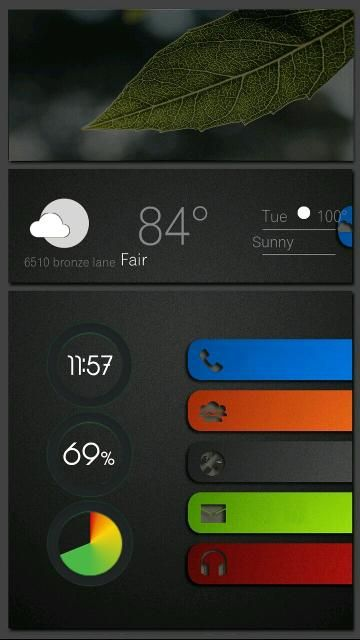 Beautiful Android Home Screen Android Homescreem Pinterest