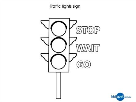 Traffic Light Coloring Page Traffic Light Coloring Pages Stop Light