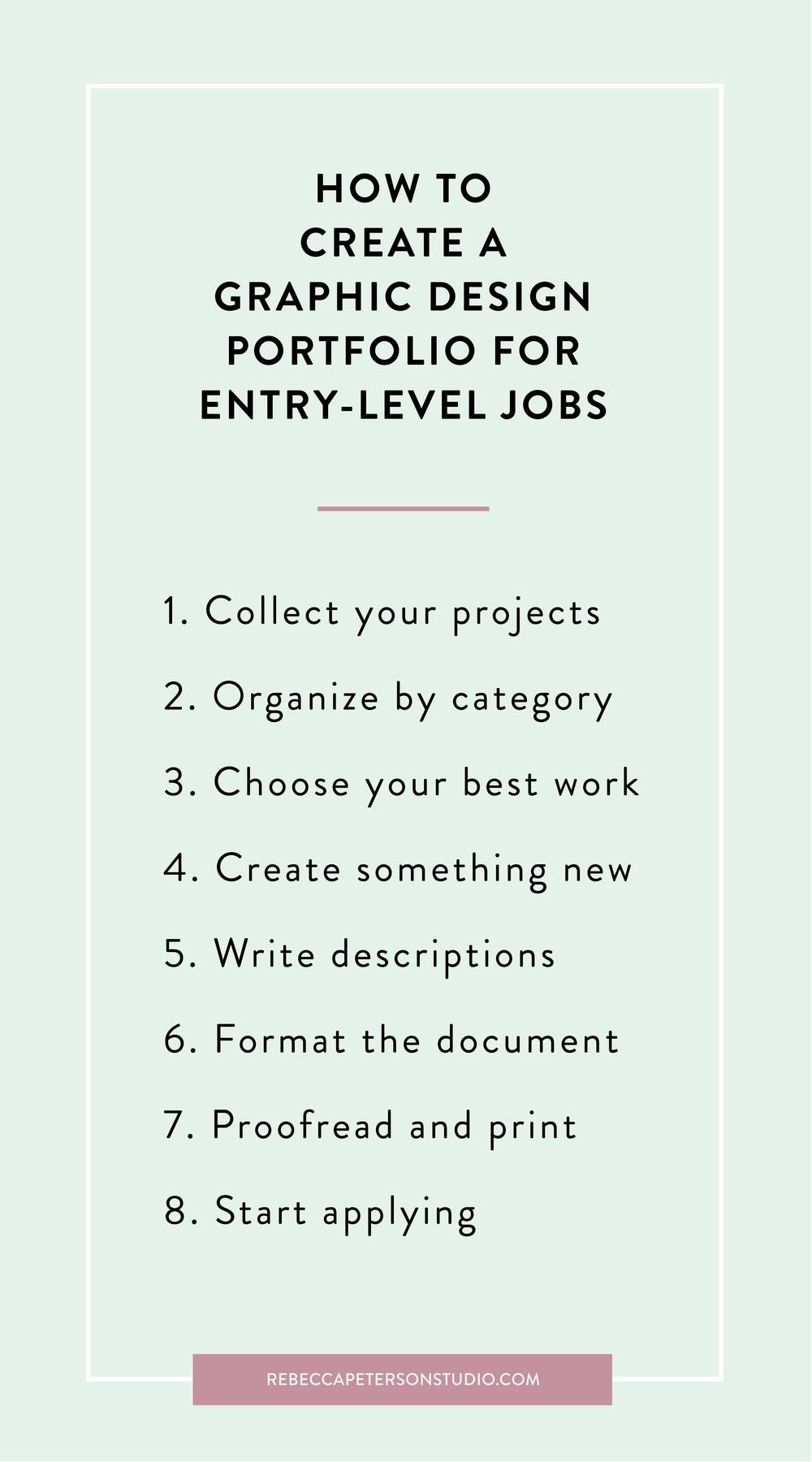 How To Create A Graphic Design Portfolio For Entry Level Jobs Rebecca Peterson Studio Entry Level Jobs Graphic Designer Portfolio Graphic Design Portfolio