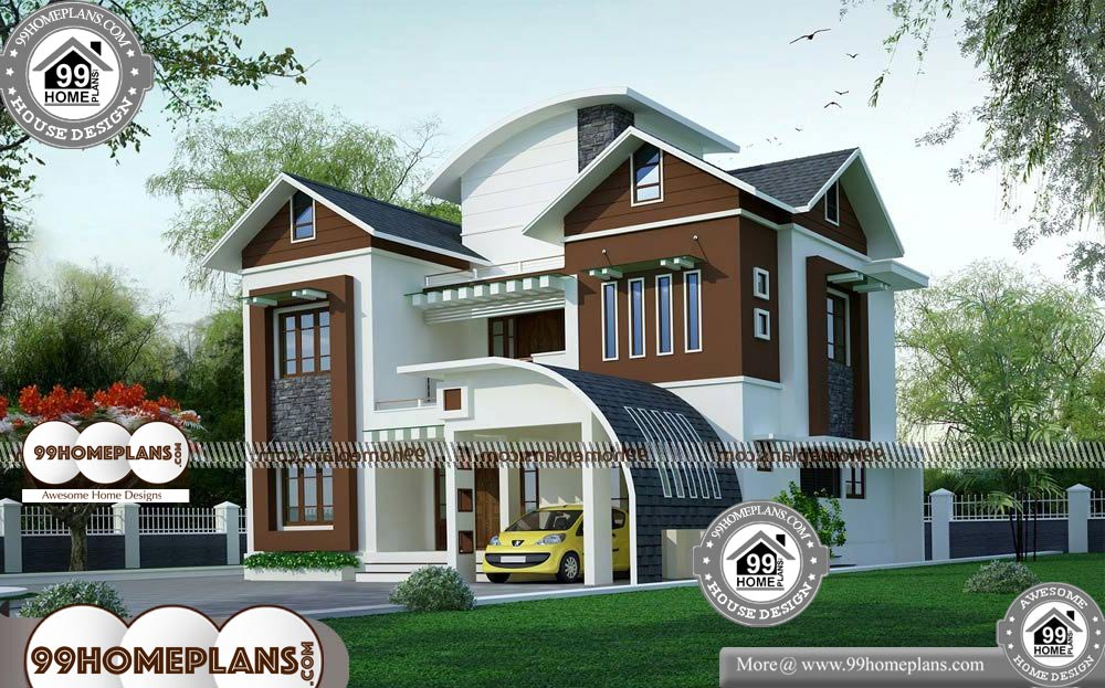 Two Story Contemporary House Plans 50 Free Bungalow Home Designs Contemporary House Plans Brick House Exterior Makeover House Plans