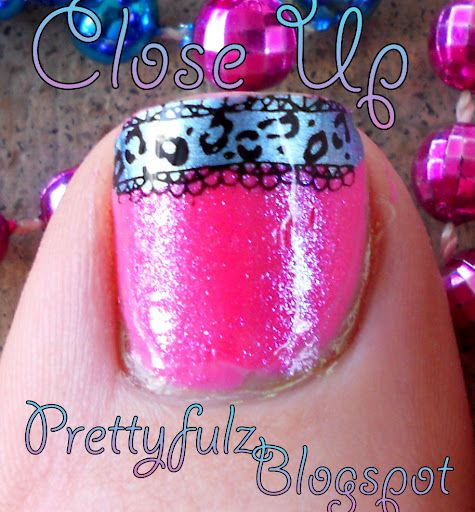 Pink, glitter, and animal print all in one pedi? Count me in!!!
