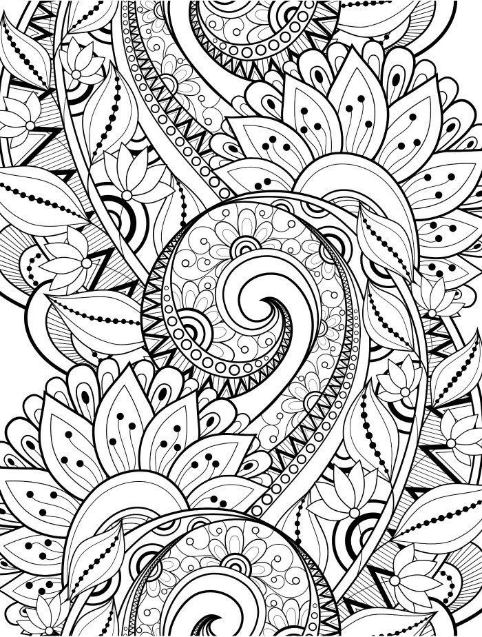 15 CRAZY Busy Coloring Pages for Adults - Page 6 of 16 - Nerdy Mamma ...