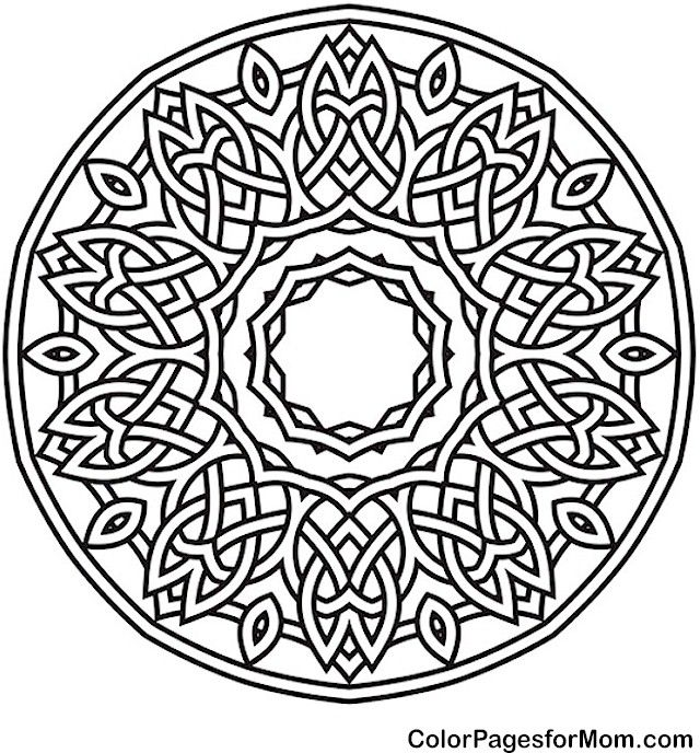 Adult Mandala Coloring Page For Stress Relief