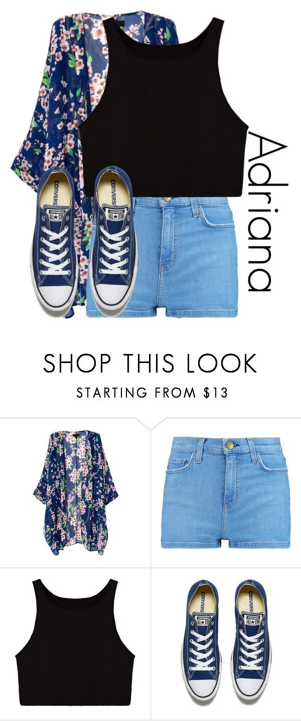 """""""Adriana"""" by basic-disney ❤ liked on Polyvore featuring Current/Elliott and Converse"""