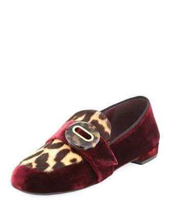 392523bb5c3 Velvet+Leopard-Print+Loafer