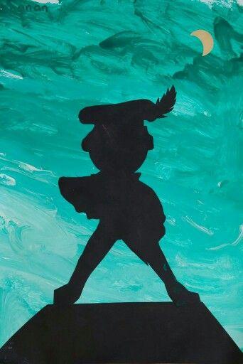Leuke knutsel! Verschillende tinten groen (blauw, etc.) verven. Uit zwart papier een piet of Sint knippen.
