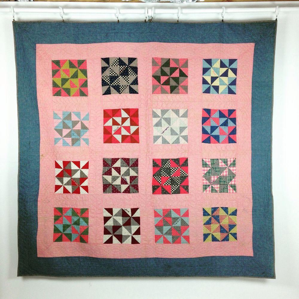 Fine Antique York County Pa Patchwork Friendship Quilt Block Pattern Ca 1900 Quilts Pennsylvania Quilts Antique Quilt