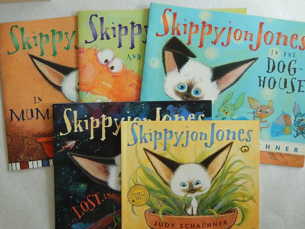 Lot 5 Childrens Books Skippyjon Jones Cat Judy Schachner Teacher