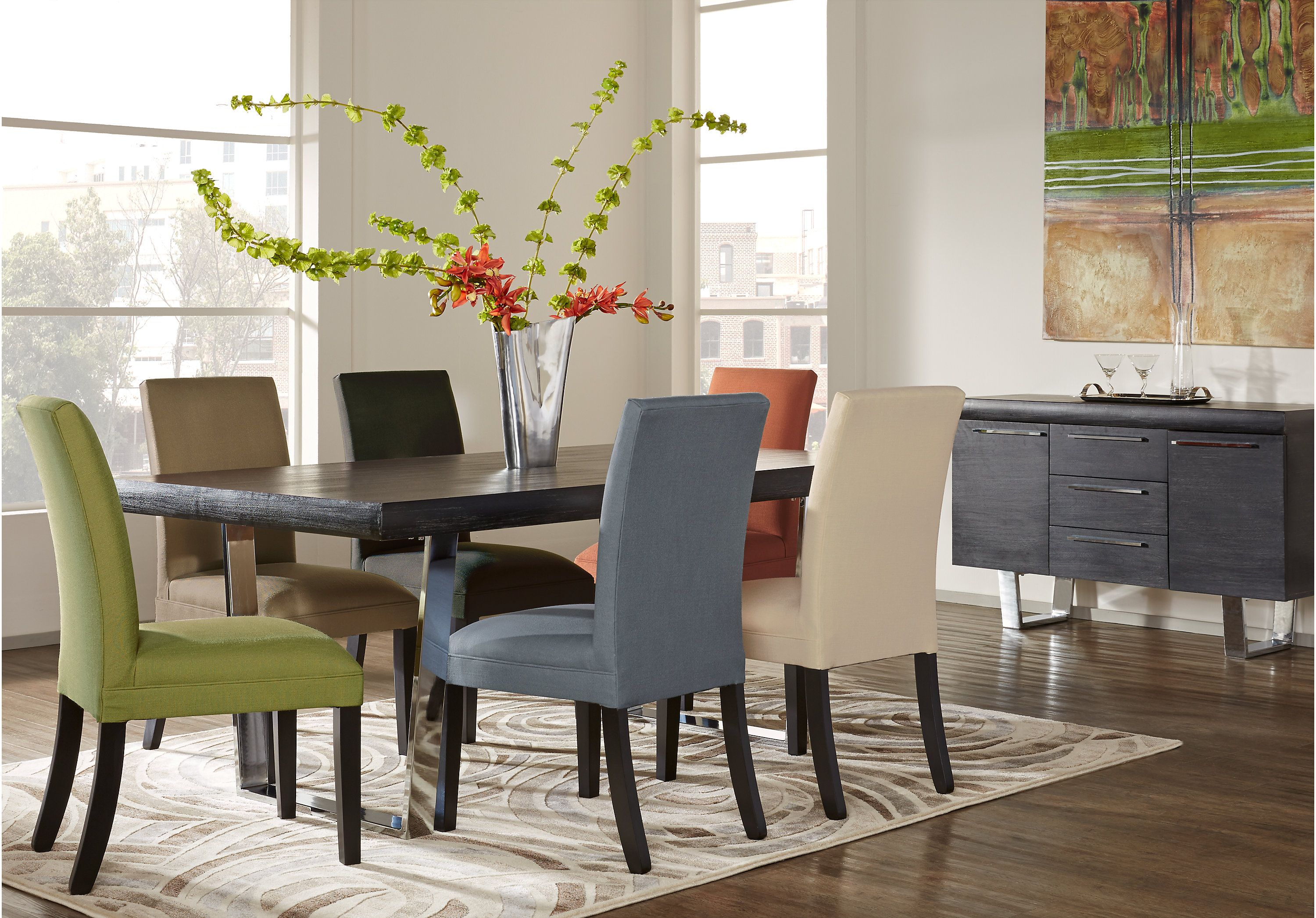 cindy crawford home san francisco black 5 pc dining room on rooms to go dining room furniture id=52988