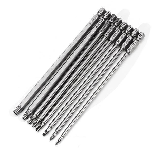 Broppe 8pcs T9 T40 150mm Magnetic Torx Screwdriver Bits 1 4 Inch Hex Shank Electric Screwdriver Magnets Ebay