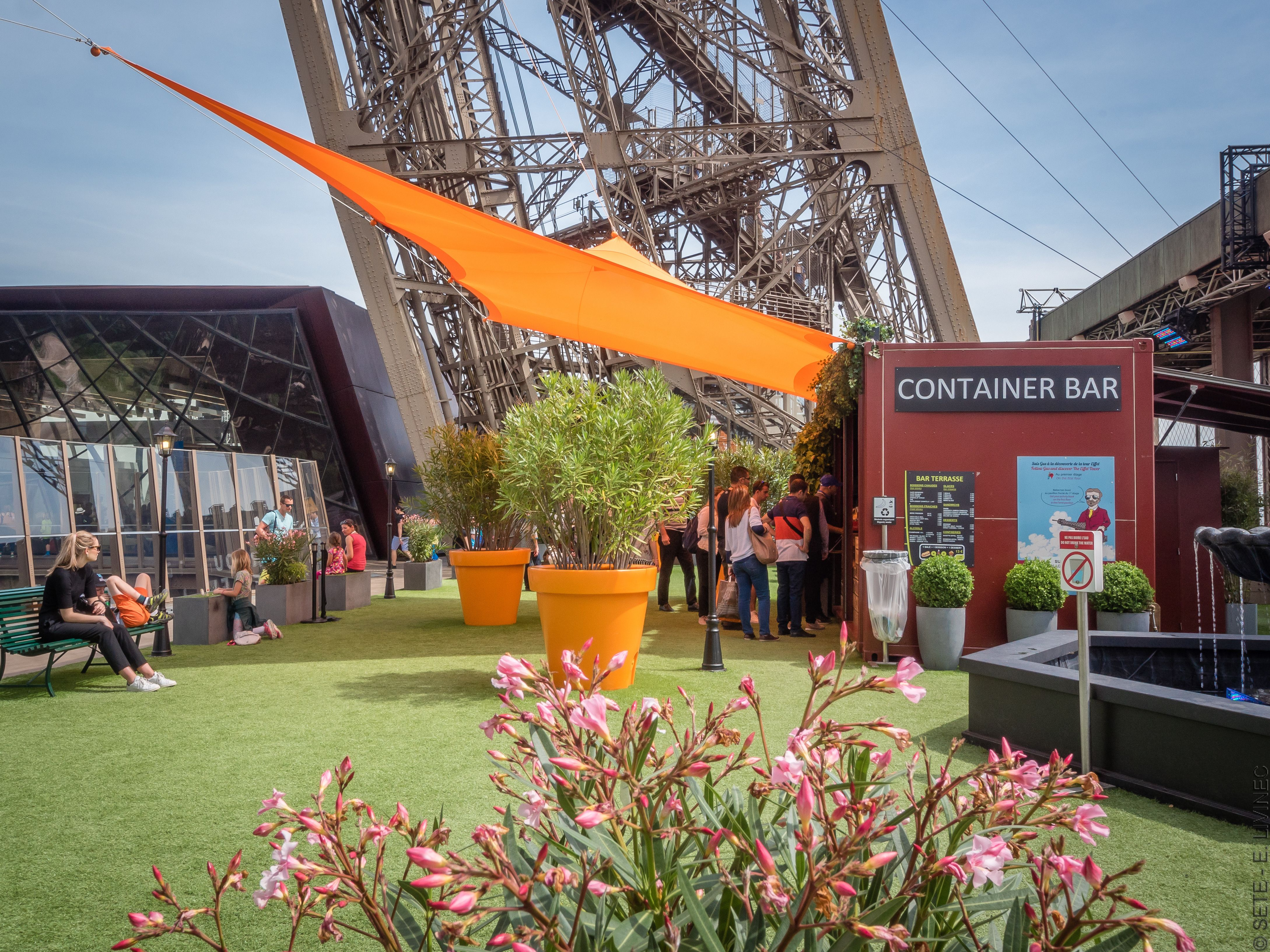 Rooftop garden at the Eiffel Tower
