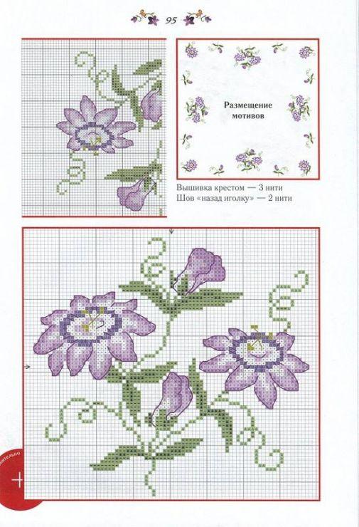 Purple flower border 1 of 2