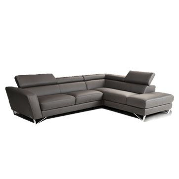 Beautiful dark gray leather for the family room
