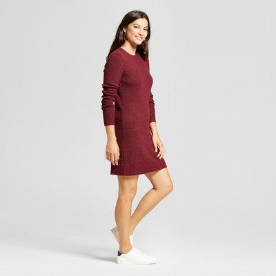 553aedb10e7 Women s Textured Sweater Dress - A New Day Burgundy (Red) XS ...