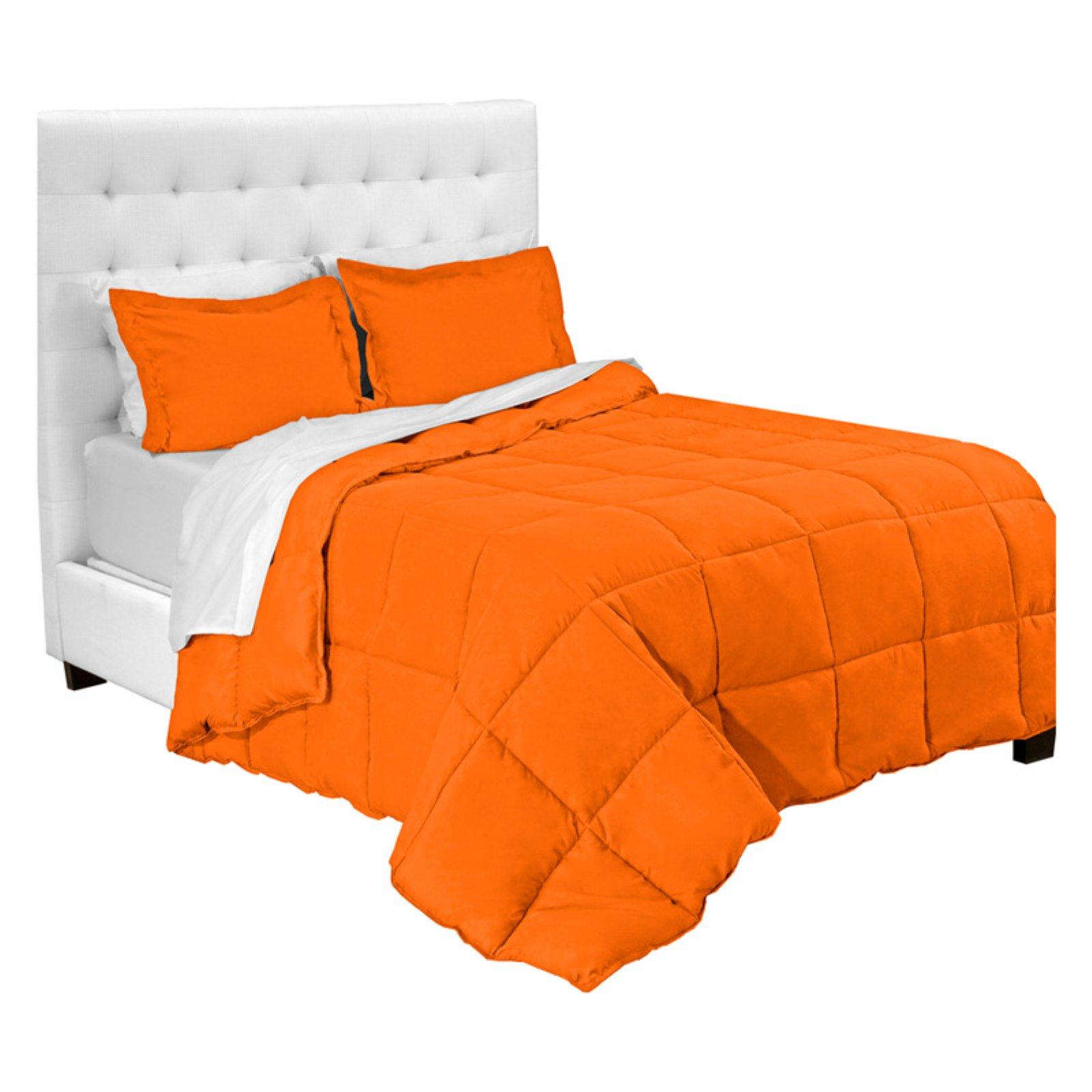Premium 1800 Series Microfiber Bed In A Bag By Bare Home Orange