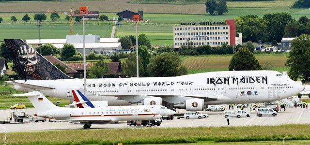 Flugzeug Merkel Iron Maiden